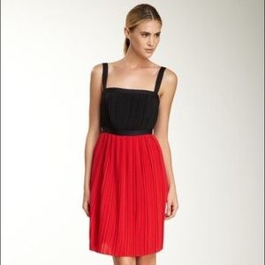 Calvin Klein Black & Red Pleated Party Dress 14